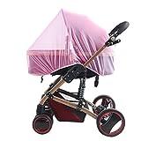 TININNA Universal Insektenschutz passend für Kinderwagen Moskitonetz Fliegennetz Mückennetz Insekt Netz Netting für Kinderwägen Cradles rosa EINWEG Verpackung