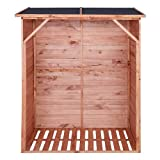 Kaminholzregal mit Rückwand IMPRÄGNIERT Brennholzregal Holzunterstand für 1,15 m³ Brennholz