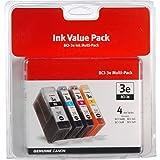 4 x Canon BCI-3e BK/C/M/Y - Original Tintenpatronen, Multipack Set Satz - MPC400/600F/700/730 und MultiPASS C100