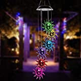 Swonuk Solar Windspiel Licht, Sonnengott Windspiele Lichterkette LED-Mobile Windspiel mit Wasserdicht Farbwechsel, für Haus/Party/Patio/Nacht Garten Dekoration
