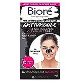 Bioré 6 Tiefenreinigende Aktivkohle Clear-Up-Strips - 1 X 6 Nasenstrips - Dermatologisch Getestet - Für Normale Bis Fettige Haut