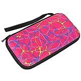 Harte Eva-Reise-Aufbewahrungstasche, stoßfeste Mehrzweck-Schutztasche für die Reise mit schwarzem Reißverschluss für Grafikrechner Texas Instruments(Rose Red)