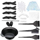 Haarfärbemittel Set für das DIY-Salonwerkzeug, einschließlich Haartönungsschale, Färbebürste, Ohrpolster, Haarkappe, Haarkrokodilklemmen-Kits