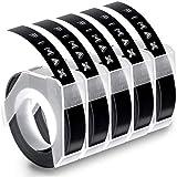 Fimax Kompatible 3D Prägegerät 9mm Schwarz als Ersatz für Dymo Omega Junior Embosser Band...
