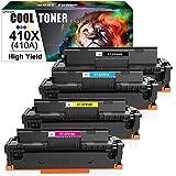 Cool Toner Kompatibel Tonerkartusche als Ersatz für HP 410X CF410X CF411X CF412X CF413X Color Laserjet Pro MFP M477fdw M477fdn M377dw M477fnw M452dn M452dw M452 (Schwarz,Cyan,Gelb,Magenta,4er-Pack)