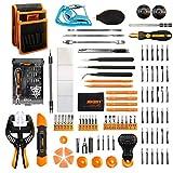 Jakemy - 99 in 1 Präzisions-Schraubendreher-Kit, 56 magnetische Schraubendrehereinsätze, Werkzeug-Kit mit Tasche zur Reparatur von iPhone/Android-Telefon/Tablet/PC/MacBook