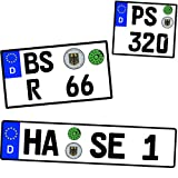 Wunschkennzeichen - Kennzeichen - 1/6 - 1/10 - 1/12 - 1/18 - 1/24 - 1/32 - 1/43 - 1/60 - 1/64 - 1/72 - 1/87 - Alles möglich - Auch Motorrad Nummernschild Wuns..