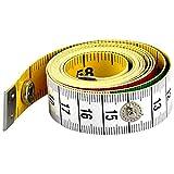 AFASOES Maßband Schneidermaßband Weiches Massband Skala Körpermaßband mit Knopf Maßbänder zum Nähen Körperumfang für Schneider Handwerker150 cm/60 Inch