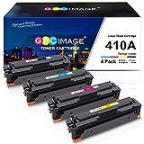 GPC Image Kompatible Tonerkartusche als Ersatz für HP 410A CF410A für Color Laserjet Pro MFP M477fdw M377dw M477fdn M477fnw M452dn M452nw M452dw M477 M452 M377(Schwarz Cyan Gelb Magenta, 4er-Pack)