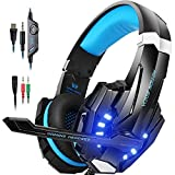 PUNICOK PS4 Gaming Headset, 3.5mm Surround Sound Headset mit Mikrofon für Xbox One(s), Nintendo...