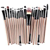 Demarkt® Make up Brush Set 20 Stück Make Up Pinsel Set Schmink Pinselset Etui Schminkpinsel Makeup Brush Set Kosmetik Lidschattenpinsel Gesichtspinsel (Gold/Schwarz)