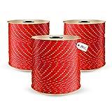 DQ-PP POLYPROPYLENSEIL | 10mm | 20m | ROT Polypropylen Seil | Tauwerk PP Flechtleine Textilseil Reepschnur Leine Schnur Festmacher Rope Kordel Kunststoffseil Kletterseil geflochten