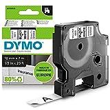 DYMO D1-Etikettenband Authentisch | schwarzer Druck auf weißem Untergrund | 12mm x 7m | selbstklebendes Schriftband | für LabelManager-Beschriftungsgerät