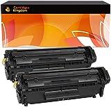 Cartridges Kingdom 2X FX10 Schwarz Toner kompatibel für Canon I-SENSYS MF4350D MF4330D MF4370DN MF4010 MF4120 MF4140 MF4150 MF4270 MF4100 FAX L95 L100 L120 L140 L160 LASERBASE PC-D440 PC-D450