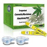 THC Urintest Kits , THC Urintest mit Cut-off: 50 ng/ml , Drogentest Cannabis Marijuana Haschisch - 15 Stk Marihuana THC Test-Kit + 15 Urinbecher