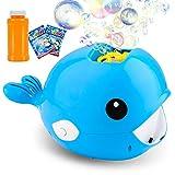 balnore Seifenblasenmaschine Wal Automatischer Seifenblasen Spielzeug Bubble Machine Spielzeug Kinder Erwachsene Perfekt für Outdoor Party Badezeit Hochzeit