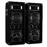 Malone PW-65X22 - Plus Edition, PA Lautsprecher Paar mit 2 x 600 Watt max. Leistung, 3-Wege-Boxen,...