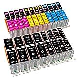 ESMOnline 20 komp. XL Druckerpatronen Canon MG 5450 5550 5650 5655 6350 6450 6650 7100 7150 7550 MX 725 925 iP 7200 7250 8750 iX 6850