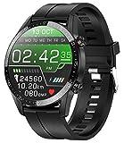 jpantech Smartwatch Voll Touch Screen IP68 Damen Herren Intelligente Uhren Sport | Bluetooth-Anruf | EKG-Überwachung Tracker Pulsuhr Schrittzähler Blutdruckmessung Wasserdicht IOS/Android(LSchwarz)