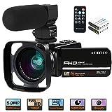 Videokamera Camcorder, ACTITOP 1080P 30FPS IR Nachtsicht YouTube Kamera 16x digitaler Zoom...
