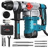 ENEACRO SDS-Plus Bohrhammer, 1500W 7Joule Abbruchhammer 6 Variable Geschwindigkeit 0-920U/Min mit 4 Funktionen, Anti-Vibrationsgriff und Sicherheitskupplung, 32 mm Bohrleistung in Beton