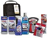 SONAX XTREME Autopflege Set inkl. Tasche (8-teilig); Autoreinigungs- und Pflegeset für den Fahrzeug-Außenbereich (für Lack und Felgen) | Art-Nr. 07615410