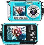 Unterwasserkamera Full HD 2.7K 48MP Unterwasser Kamera zum Schnorcheln wasserdichte Digitalkamera...