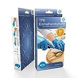 TPE Handschuhe 2000 Stück 10 Boxen (M, TPE Handschuhe) Einweghandschuhe, Einmalhandschuhe, Untersuchungshandschuhe, TPE Handschuhe, puderfrei, ohne Latex, unsteril, latexfrei, disposible gloves, black