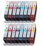 UCI 16x Tintenpatronen kompatibel zu BCI-6 für Canon Bubble Jet i9900, i9950, Pixma iP8500 (2 x BCI-6BK, 2 x BCI-6C, 2 x BCI-6M, 2 x BCI-6Y, 2 x BCI-6PC, 2 x BCI-6PM, 2 x BCI-6G, 2 x BCI-6R)