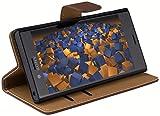 mumbi Tasche Bookstyle Case kompatibel mit Sony Xperia X Compact Hülle Handytasche Case Wallet,...