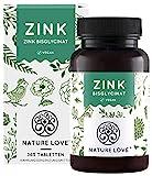 Zink 25mg - 365 Tabletten (1 Jahr) - Hochdosiertes Zink-Bisglycinat (Zink Chelat) von Albion® - Hoch bioverfügbar, vegan, laborgeprüft, hergestellt in Deutschland