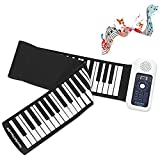 POWERFULM Elektronische Hand Roll Piano, 88 Key verdickte Midi Controller Keyboard Tragbare Keyboard Roll Up Musical Klavier für Anfänger üben