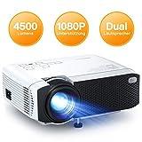Beamer APEMAN Mini Beamer 4500 Lumen 1080p Full HD Kompatibel Tragbarer Projektor LED 45000 Stunden...