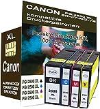 4X Tinte PATRONEN kompatibel für Canon PGI-2500 XL Maxify IB4050 IB4150 IB4150 Serie MB5150 (Keine original Canon)
