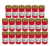 Beste Choice Grablicht Brenner Nr. 3 rot mit Deckel Grabkerzen Friedhofskerzen Grablichtkerze Trauerlicht Gedenkkerze Grabdekoration Grabdeko (20er Pack)