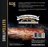 Grillschmecker Grillpellets - Holzpellets aus 100% Reiner Buche für Grill, Pelletofen & Smoker - 15kg Sack
