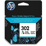 HP 302 Farbe Original Druckerpatrone (für HP Deskjet 1110, 2130, 3630, HP OfficeJet 3830, 4650, 5230, HP ENVY 4520)