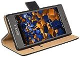 mumbi Tasche Bookstyle Case kompatibel mit Sony Xperia M4 Aqua Hülle Handytasche Case Wallet,...
