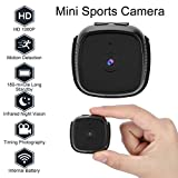 Tangxi HD 1080P Mini-Sportkamera, Wireless Home Security-Kamera Nachtsicht, Bewegungserkennung,...