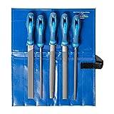 PFERD Werkstattfeilen-Set in PVC-Rolltasche, 5 Feilen, 200mm, 11800520 – für ein umfassendes Anwendungsspektrum geeignet