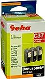 3 Geha Tintenpatronen im Multipack  für Canon ersetzt Nr. BCI-24BK schwarz