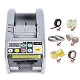 Kacsoo Klebebandspender Automatischer Bandspender ZCUT-9 Multifunktions 6-60mm Cut 1/2 Rolls Elektronische Auto Klebeband Cutter Verpackungsmaschine für verschiedene Klebebänder