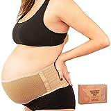 Bauchgurt Schwangerschaft - Weich & Atmungsaktiv Stützgürtel Schwangerschaft - Bauchband Schwangerschaft Stützend - Stützgurt Schwangerschaft (Classic Ivory, One Size)