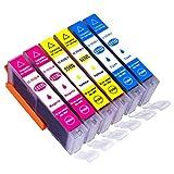 ESMOnline 6 komp. XL Druckerpatronen Canon Pixma MG5450 MG5550 MG5650 MG5655 MG6350 MG6450 MG6650 MG7100 MG7150 MG7550 MX725 MX925 iP7200 iP7250 iP8750 iX6850 (CLI-551)