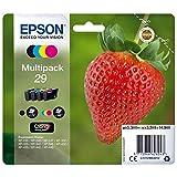Epson Original 29 Tinte Erdbeere, XP-235 XP-332 XP-335 XP-432 XP-435 XP-245 XP-342 XP-345 XP-442 XP-445 XP-247 XP-257 XP-255 XP-352 XP-355 XP-452 XP-455, (Multipack 4-farbig)