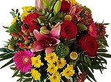 Flora Trans frischer Blumenstrauß mit roten Rosen verschicken -Bunte Liebe-