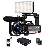 Camcorder 4K Videokamera, ORDRO AC5 UHD Camcorder mit 12x Opt. Zoom 3.1' IPS Touchscreen HD 1080P...