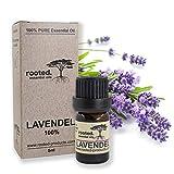 rooted.® - 5ml Lavendelöl - 100% naturreines ätherisches Lavendelöl (Lavandula Angustifolia) - EU Erzeugnis - Lavendel für Aromtherapie, Naturkosmetik, Entspannung, Massageöl