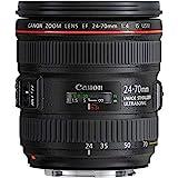 Canon Zoomobjektiv EF 24-70mm F4L IS USM für EOS (77mm Filtergewinde, Autofokus, Bildstabilisator) schwarz