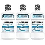 Listerine Advanced White Mundspülung, antibakterielles Mundwasser für weiße Zähne und gesundes Zahnfleisch (3 x 500 ml)
